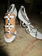 BCBGeneration Lory Women's Silver/White Dress Sandal, NWOB, Size 10M