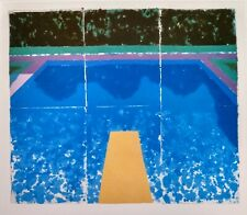 David Hockney 1978 iconic Paper Pools #7 Tyler Graphics Lithograph Print