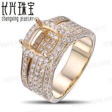 Caimao 14K Yellow Gold 8mm Cushion Natural 2.1ct Full Cut Diamond Ring Mount
