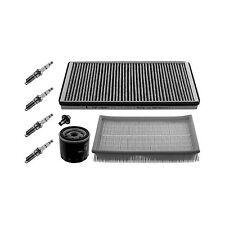 Febi Air Cabin Oil Filter Spark Plug Engine Service Kit / Set Genuine OE Quality