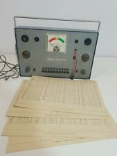 Vtgcommercial Trades Institute Model Tc 10 Tube Checker With Data Sheets Untested