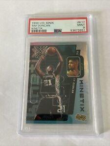 1998-99 Upper Deck Ionix Kinetix #K17 Tim Duncan San Antonio Spurs HOF PSA 9