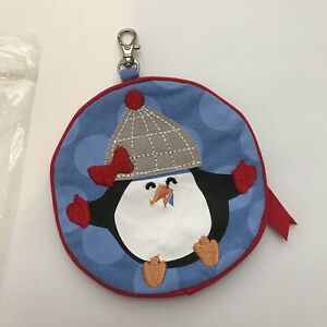 NEW THIRTY ONE 31 Icon Zipper Coin Purse Igloo Cap Miss PENGUIN Change ZIP Hook