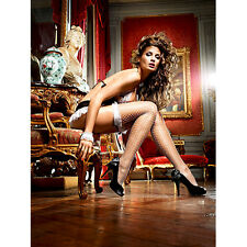 CALZE BIANCHE SEXY CAMERIERA MAID IN BACI BOW LACE
