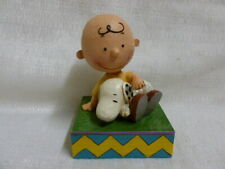 Jim Shore Peanuts Charlie Brown with Snoppy and Woodstock Figurine 4049397