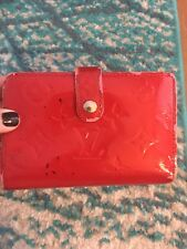 Authentic Louis Vuitton Monogram Red Vernis Kisslock Wallet