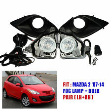 Fit 07 08 09 10 11 12 13 14 Mazda 2 Sedan Hatchback Fog Lamp Spot Light Set