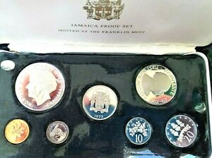 1973 Jamaica proof Set, KM#PS10. It is a 7 coin set with 1 silver coin.