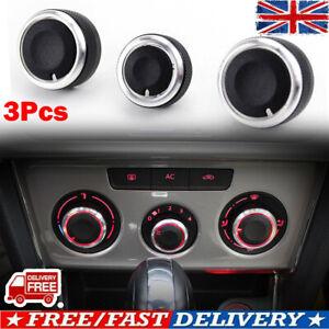 X3 AIR CONDITION HEATER CONTROL SWITCH KNOB FOR VW Golf MK5 MK6 Passat Eos Caddy