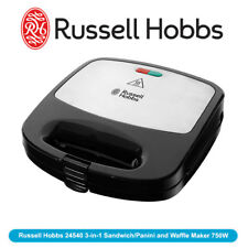NEW Russell Hobbs 24540 3-in-1 Sandwich/Panini and Waffle Maker 750W
