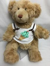 Build A Bear Brown Bear Ice Cream Cone Shirt 15� Plush Stuffed Animal Toy