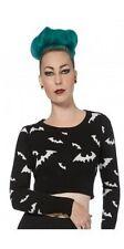 Jawbreaker, Negro Con Blanco murciélagos, Recortado Prenda para el torso Sweater (slim Fit), Alternativa