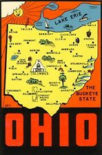 Vintage Travel Decal Replica Window Cling - Ohio