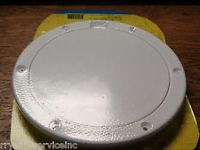 """DECK PLATE PRY UP SEACHOICE ARTIC WHITE 39511 8"""" OD BOATINGMALL EBAY BOAT PARTS"""