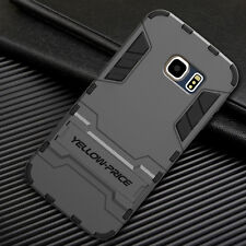 Galaxy S6 Edge Case YELLOW-PRICE Stand Armor [Slim + Military Grade Protection]