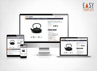 eBayvorlage 2021 SEO optimiert Responsive Template Design dark blue DFS