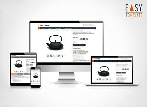 eBayvorlage 2021 SEO optimiert Responsive Template Design dark blue DFS