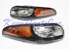 1997-2004 C5 Corvette Black Front Signal Parking Lights / Side Marker Lamps