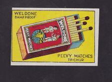 Ancienne étiquette de paquet  allumettes Inde BN51662 Weldone