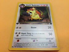 Pokemon Dark Raticate 51/82 Team Rocket 1st Edition Common Card Mint
