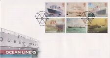 UNADDRESSED SOUTHAMPTON PMK GB ROYAL MAIL FDC COVER 2004 OCEAN LINERS STAMP SET