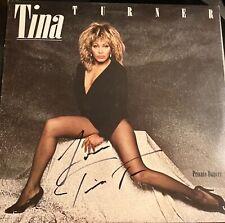 Tina Turner Signed Autographed Lp Album Private Dancer