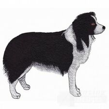 Large Embroidered Zippered Tote - Border Collie AD204
