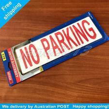Plastic Self Adhesive No Parking Sign 200x65x2mm