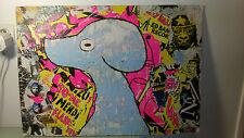 Tableau art brut art premier De Jean Savourat titré Lacérage date 2008