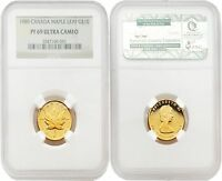 Canada 1989 10th Anniversary Maple Leaf $10 1/4 oz Gold NGC PF69 ULTRA CAMEO