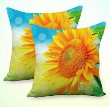 Us Seller-Set of 2 sunflower floral cushion covers decorative pillow case covers