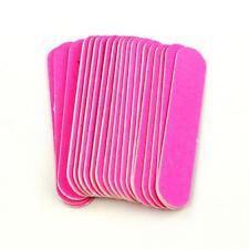 20PC Pink Nail Art Manicure Buffer Buffing Sanding Files Crescent Sandpaper US