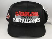 Kids Youth Size NHL Carolina Hurricanes Vintage Snapback Hat Cap Black