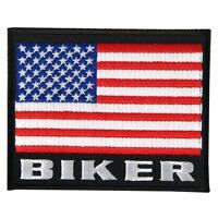 Patch Biker Drapeau américain flag écusson thermocollant blouson gilet custom