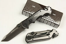 A++Knife Stainless Steel Folding Camping Survival Rescue Tool Silver SOG Saber