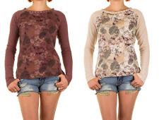 Markenlose hüftlange Damen-Pullover & -Strickware mit Schnürung