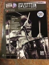 Drumset Led Zeppelin Books, Alfred's Platinum Album Editions