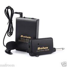 Wireless Microfonständer Fm Transmitter Empfänger Lavalier Rever Clip Mic System