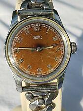 Vintage Wyler Incaflex watch, runs, but needs mainspring replaced, STNING PATINA
