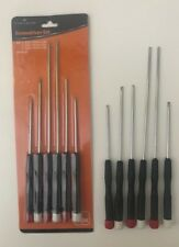 6pc Precision Screwdriver Set-Different Sizes/Heads-Long Reach-For Electronics