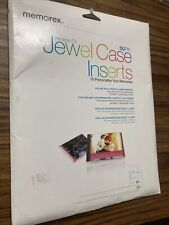 Memorex Jewel Case Inserts 50 Pack Opened Guaranteed Complete