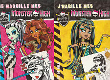 LOT 4 LIVRES MONSTER HIGH habiller maquiller créations Looms nombreux STICKERS