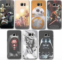 Star Wars Case/Cover Samsung Galaxy S6 S7 Edge + Screen Protector / Silicone Gel
