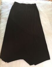 Chicos Additions Size 2 Black Slinky Asymmetrical Skirt