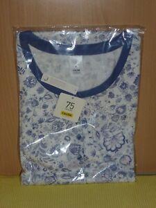 """***Damen-Sleepshirt Marke """"CALIDA"""" 100 cm Gr. XL (52/54) Farbe: Weiß/Blau Neu***"""