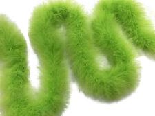 USA Seller 2 Yards - Lime Green Turkey Medium Weight Marabou Feather Boa 25 Gram
