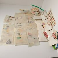 Vintage World Stamp Collection Of Circulated Stamps Primarily 1950's
