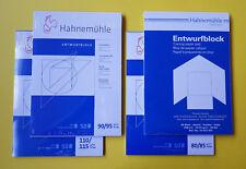 Hahnemühle Entwurfblock din A4 3 Carta Trasparente Blocco Numero-Grammi G/M²