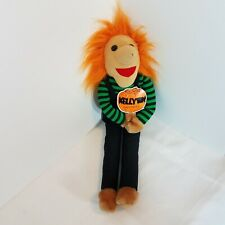 """Kellytoy Halloween Plush 16"""" Orange Hair Long Legs Scary Witch Toy Made In USA"""