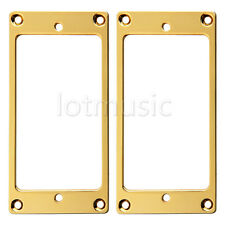 2pcs Flat Metal Humbucker Pickup Mounting Ring Gold